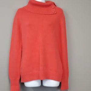 Banana Republic orange cowl neck sweater size M